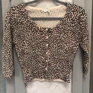 Cheetah Cropped Cartigan